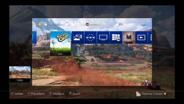 fonds d'écran personnalisés PS4