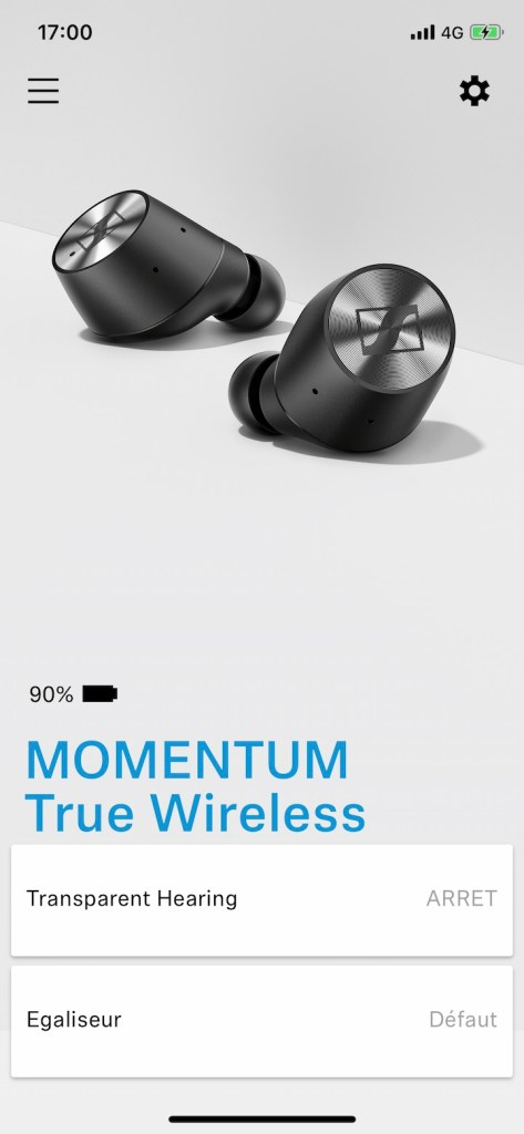 Sennheiser MOMENTUM True Wireless app mobile