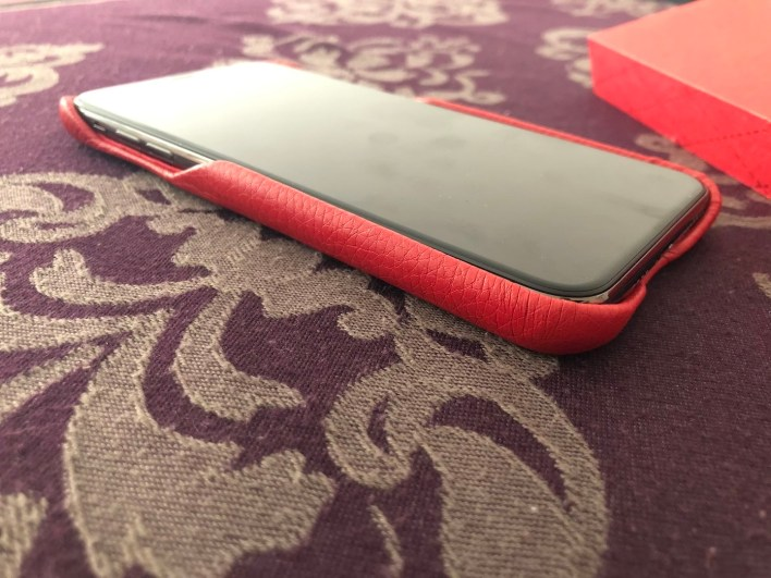 COQUE CUIR grainé APPLE IPHONE XS MAX