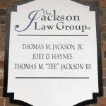 The Jackson Law Group building sign