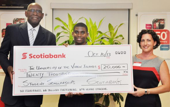 ScotiaBank and UVI student