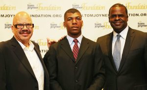 Titus Zeigler (c) with Tom Joyner (l) and Atlanta Mayor Kasim Reed (r)