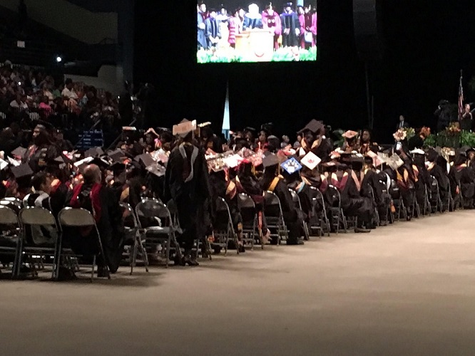 VIDEO: Students Boo, Turn Backs on Bethune Cookman Speaker Betsy DeVos During Commencement