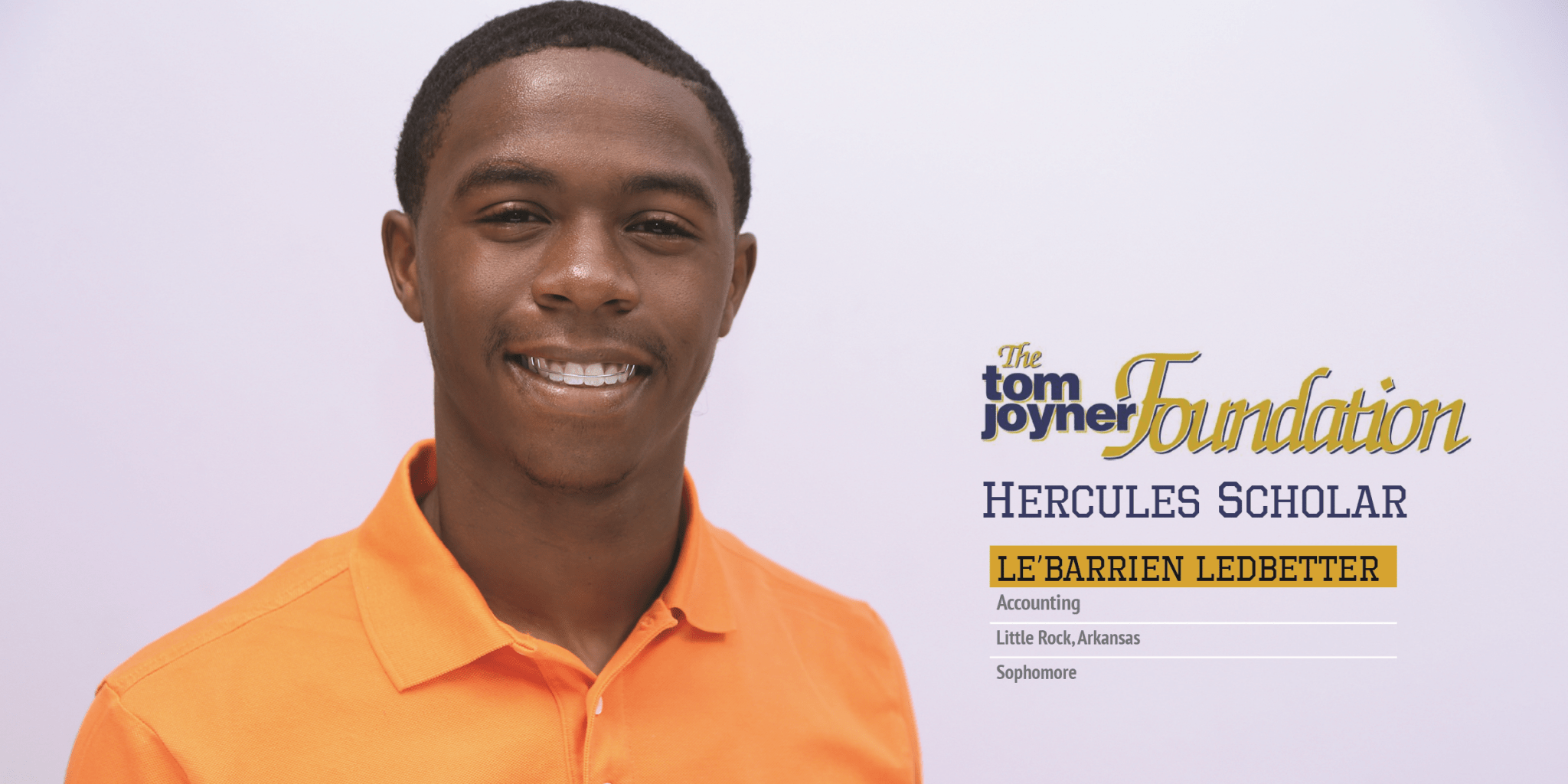 Future Certified Public Accountant, Le'Darrien Ledbetter of UAPB, is Today's Hercules Scholar