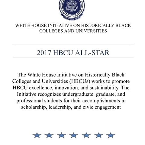 The White House Initiative on Historically Black Colleges and Universities' 2017 HBCU All-Stars