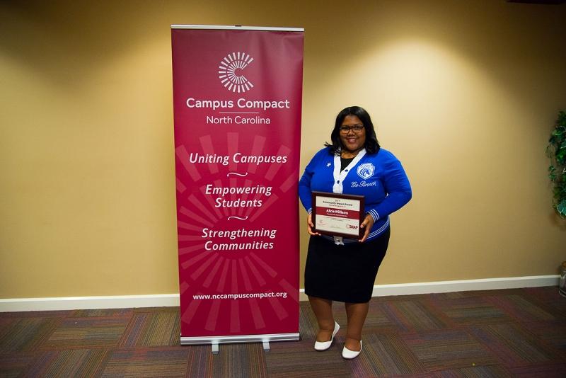 Fayetteville State University Senior Alicia Williams Honored for Community Service