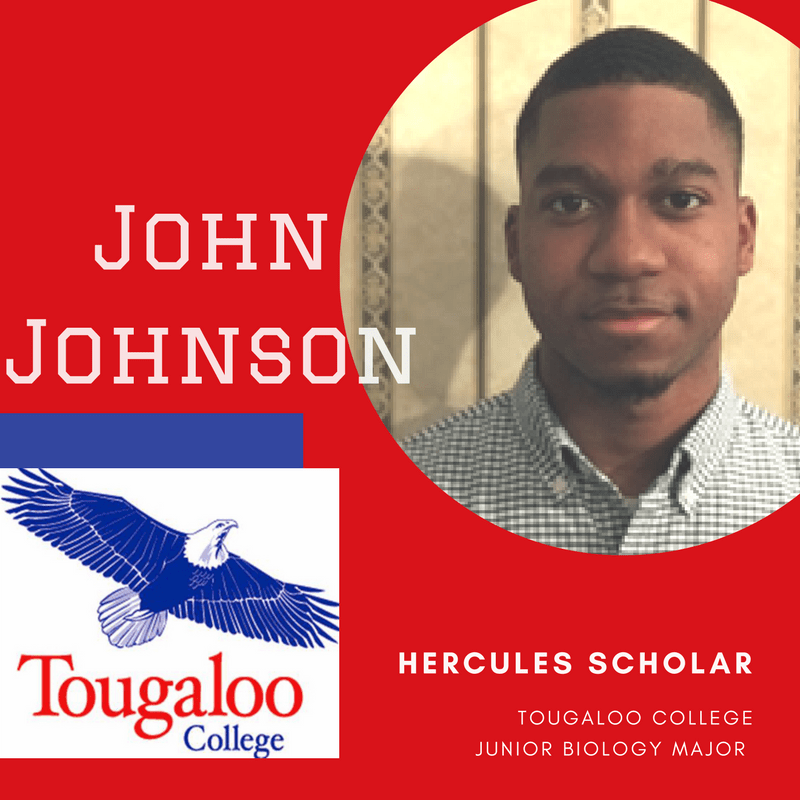Answering the Call: Tougaloo Student & Future Anesthesiologist, John Johnson, is Today's Hercules Scholar
