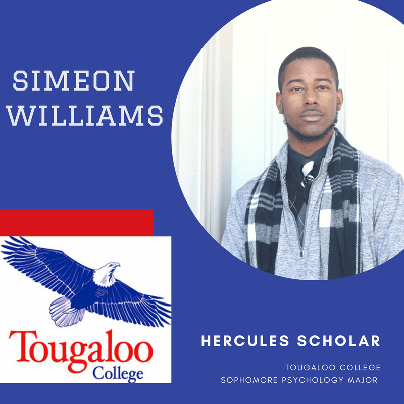 Tougaloo Future Sports Psychologist, Simeon Williams, is Today's Hercules Scholar