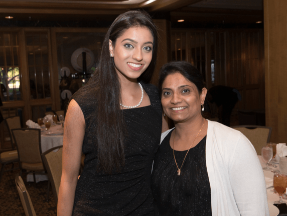 From left: Full Ride Scholarship finalist Krupa Patel and her mother. (Photo: Jesse Hornbuckle)