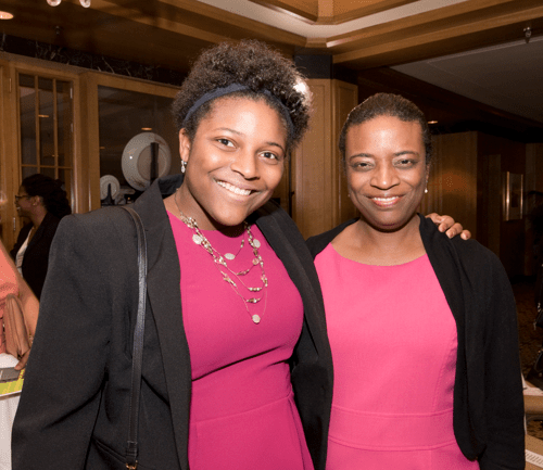 From left: Full Ride Scholarship finalist Lauren Bush and her mother. (Photo: Jesse Hornbuckle)