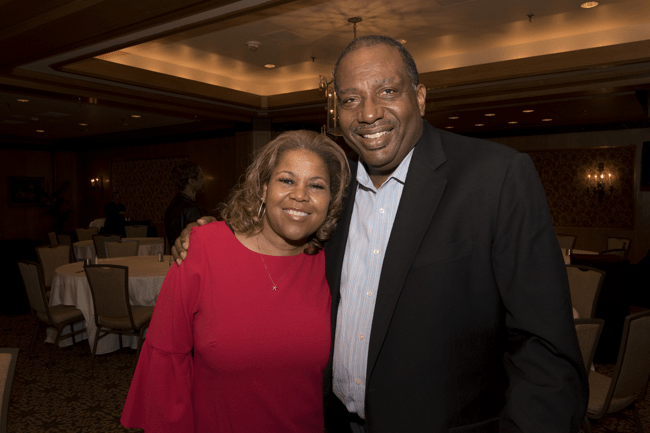 From left: Sybil Wilkes, co-host of the Tom Joyner Morning Show and Texas Senator Royce West. (Photo: Jesse Hornbuckle)