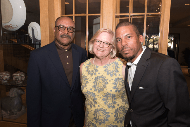 From left: TJF Teacher Quality Initiative consultant Cornell Thomas, TJF accountant Kathleen Parsons and TJF President Thomas Joyner, Jr. (Photo: Jesse Hornbuckle)