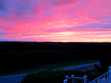 Sunset off front porch...