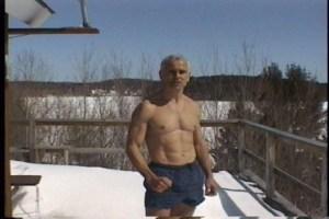 Tom Kurz Does Hindu Push-ups and Hindu Squats in the Snow