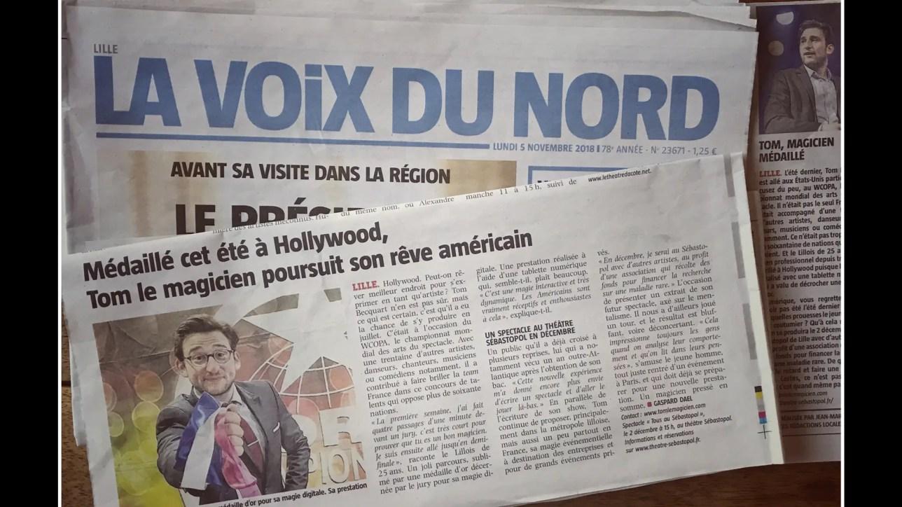 Tom Le Magicien - Article Voix du Nord