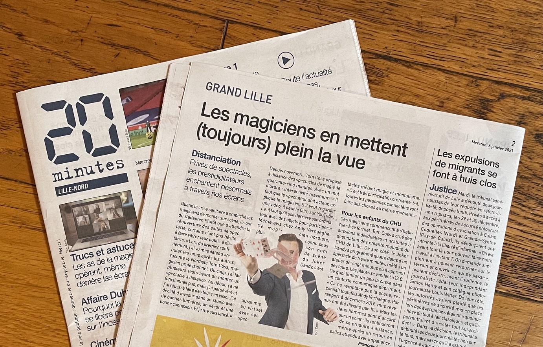Magicien Lille - Spectacle de magie à distance - 20 Minutes Lille