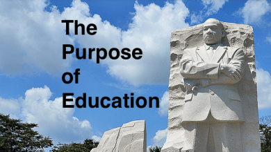 """Photo of MLK: Chief Aim of Education is to """"Save Man from the Morass of Propaganda"""""""