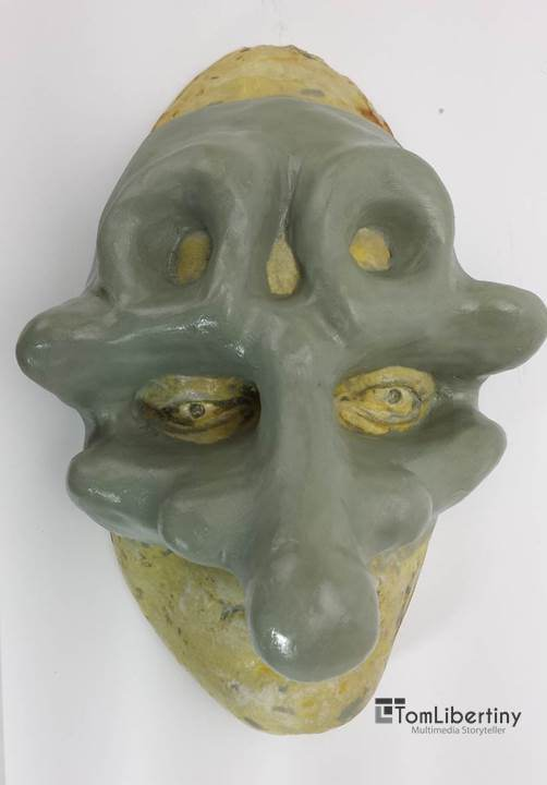 Physical birth of Murgatroyd the Mask   Clay over plaster casting
