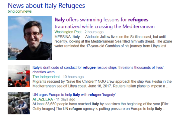 italy refugees