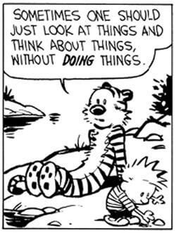 Calvin and hobbes think about things