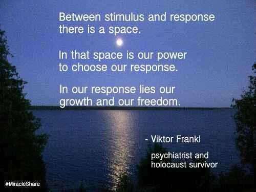 Frankl between stimulus and response