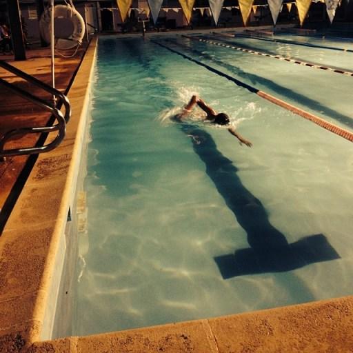 Ian nightswimming