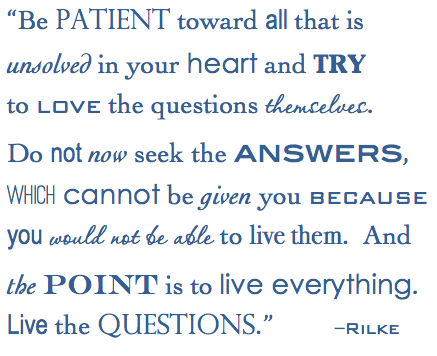 rilke love the questions