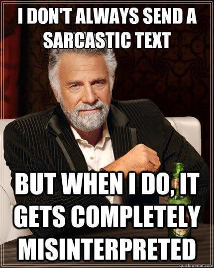 sarcastic text Sarcasm