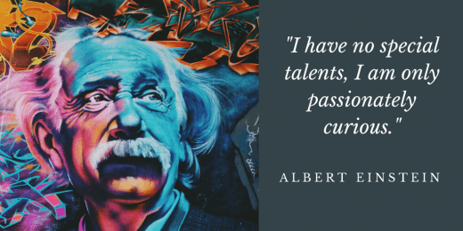 Albert Einstein Curiosity Quote