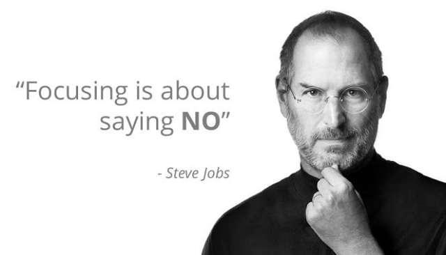 Say no - Steve Jobs