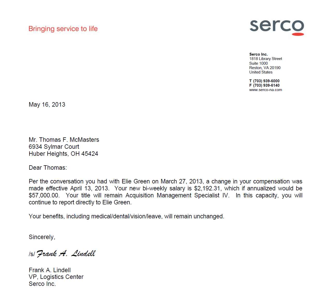 Sample Cover Letter Stating Salary Requirements