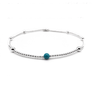 Touch of turquoise anklet