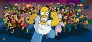 Simpsons-Mob homer running