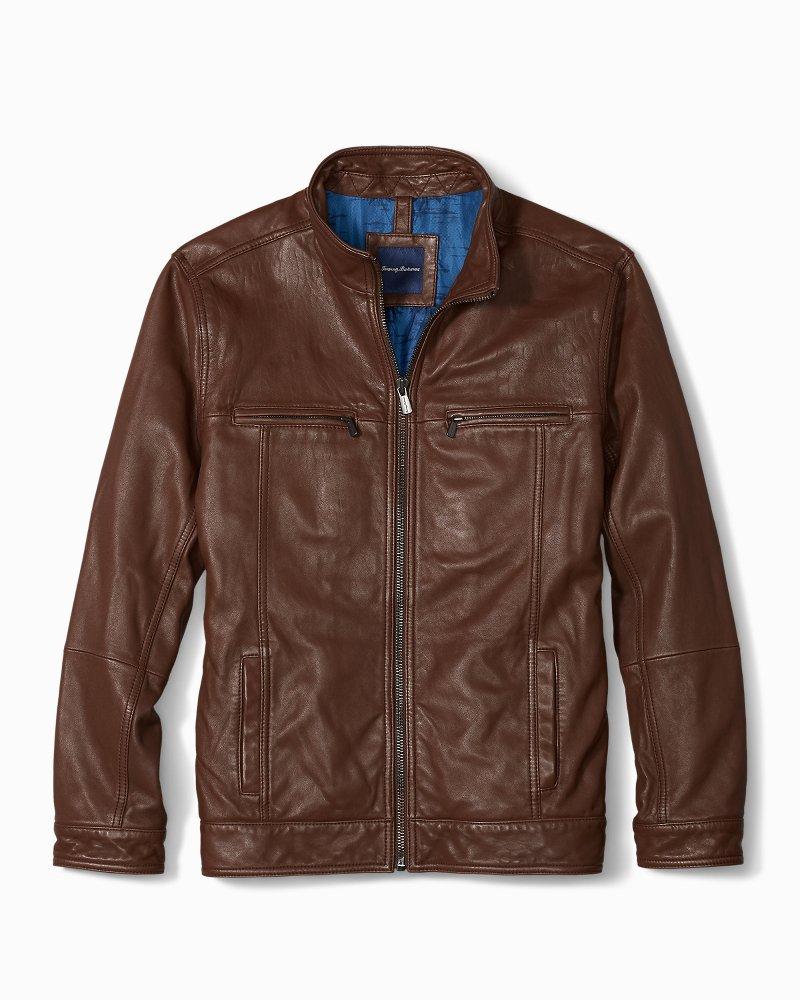 Big Amp Tall Hudson Peak Leather Aviator Jacket