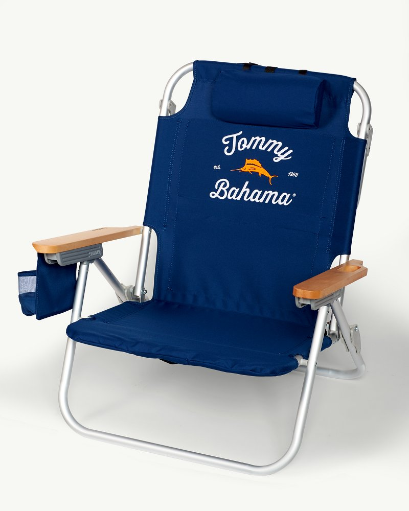 backpack chairs comfy outdoor chair navy deluxe beach main image for