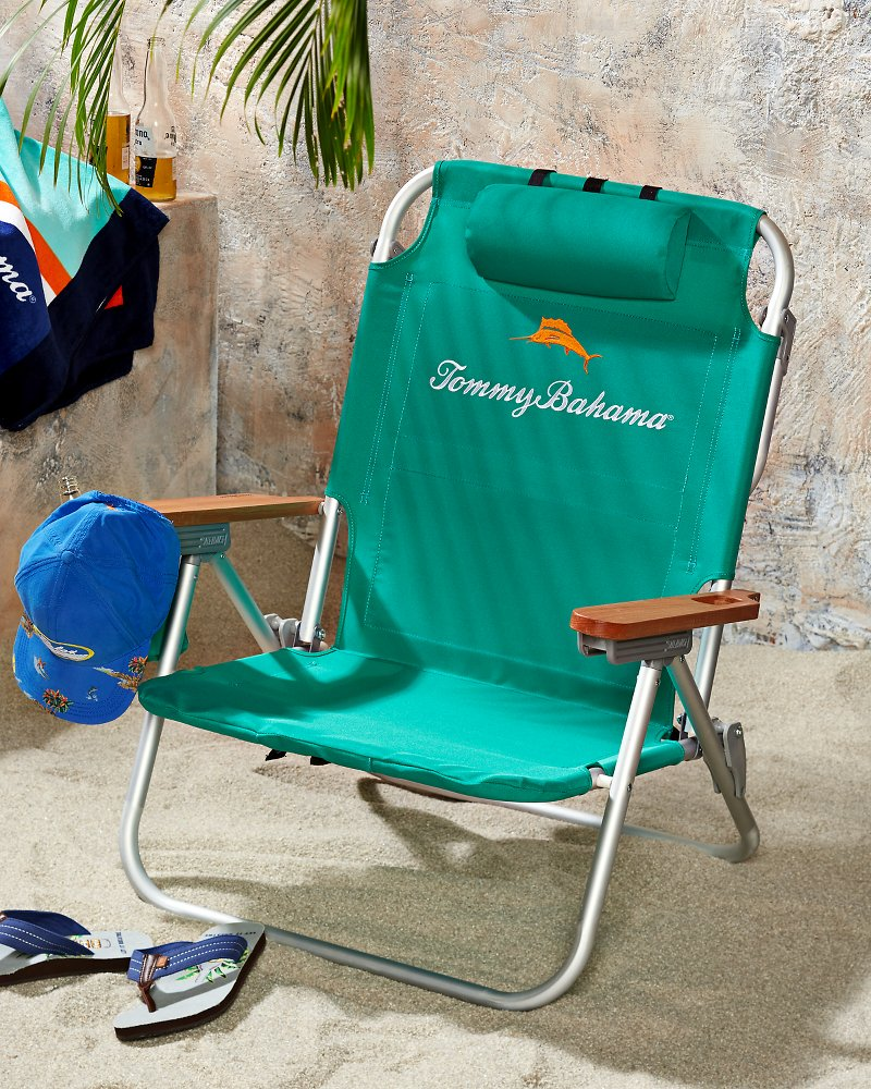 Green Deluxe Backpack Beach Chair