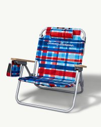 Plaid Print Deluxe Backpack Beach Chair