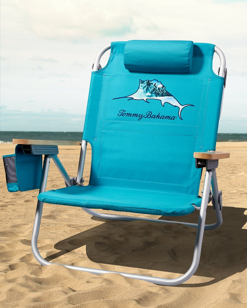 tommy bahama cooler chair see through plastic beach chairs umbrellas tropical marlin solid deluxe backpack