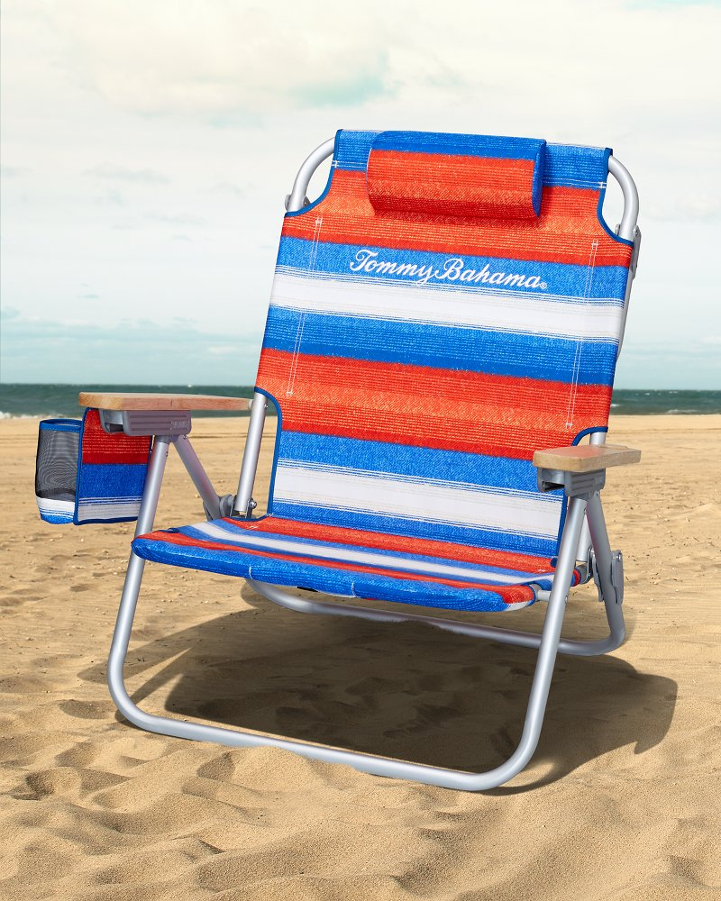 tommy bahama cooler chair swivel for bathtub beach chairs umbrellas serape stripe deluxe backpack