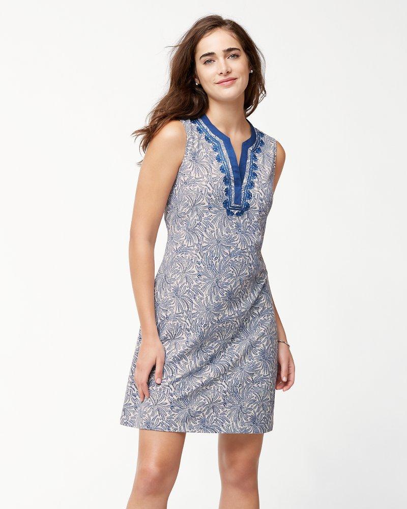 Fez Feathers Shift Dress