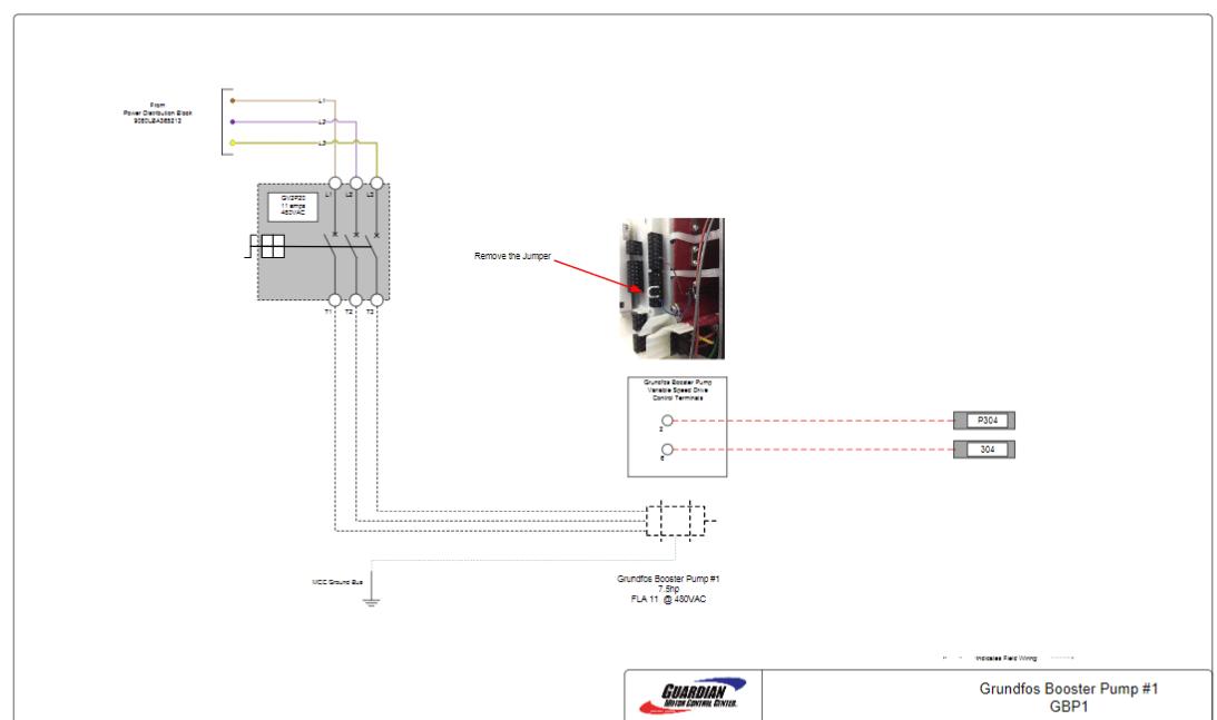 Grundfos Booster pump wiring diagram