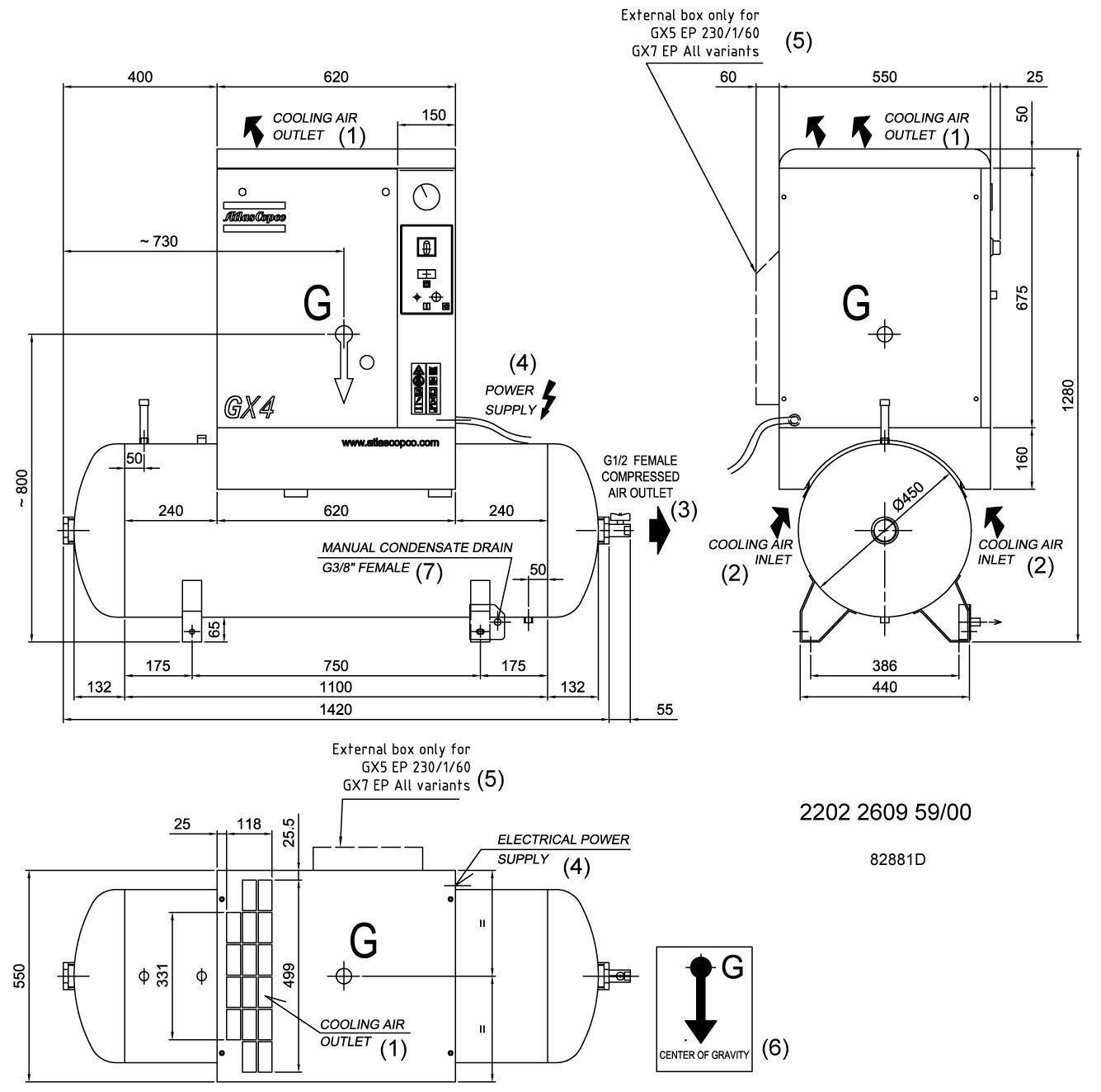 Operator Manual: Atlas Copco GX5 Air compressor