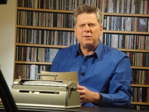 """April 1, 2012 - Tommy Edison filming """"How Blind People Write Braille"""""""