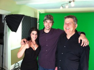 April 27, 2012 - Tommy Edison, Natalie Nightwolf, and Ben Churchill at a green screen shoot