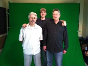May 8, 2012 - Tommy Edison, Franco Patrizi (from Franco's Pizza) and Ben Churchill at a green screen shoot