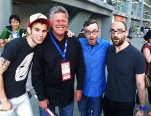 June 28, 2014 - Tommy Edison with Michael Stevens and the crew from Vsauce