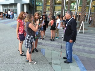 July 24, 2015 - Tommy Edison records a video for fans