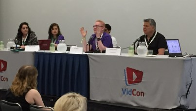 June 23, 2016 - Tommy Edison on the Disability on YouTube panel at VidCon 2016