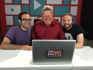 """Sept. 18, 2016 - Tommy Edison at the Fine Bros' """"YouTubers React"""" shoot"""