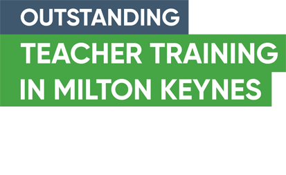 Green banner saying Outstanding Teacher training in Milton Keynes